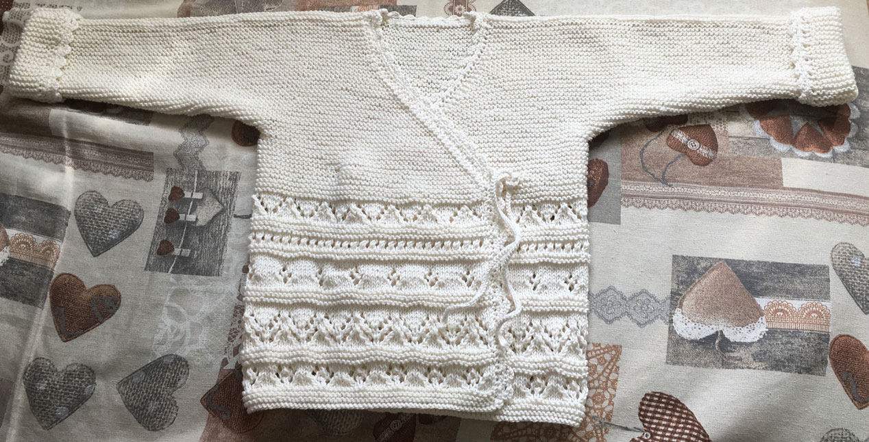 Cardigan incrociato in cotton-cashmere